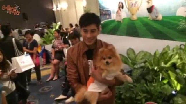"""พี่เคน ภูภูมิ กับ พี่เม้ง ในงานแถลงข่าว """"Thailand International Dog Show"""""""