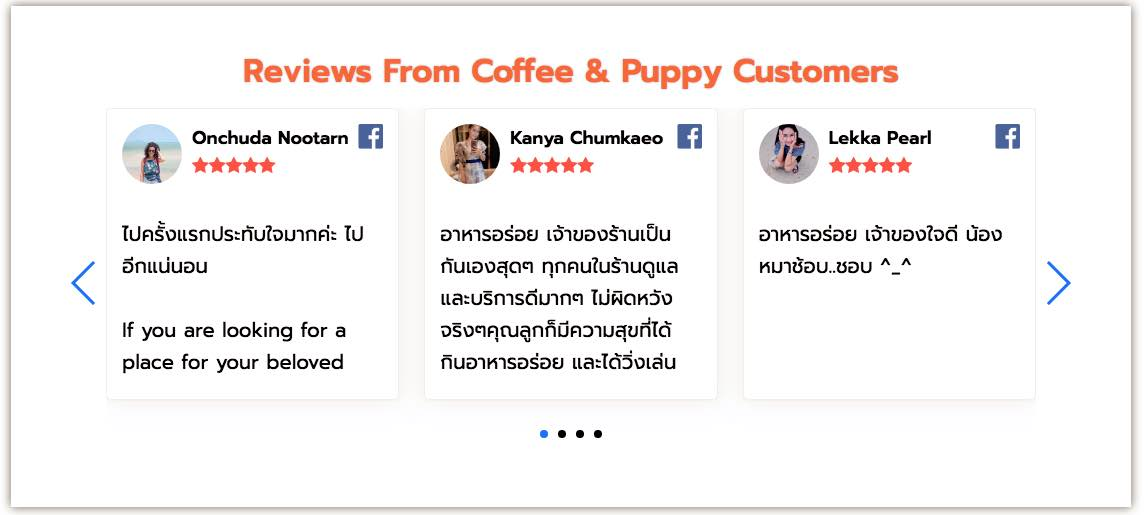 Reviews From Coffee & Puppy Customers